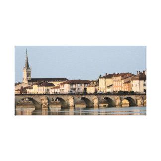 LONA ENVUELTA - en el río Saone Lyon Francia Lona Envuelta Para Galerías