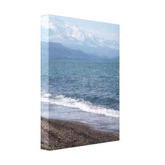 Lona envuelta escena de la playa impresiones de lienzo