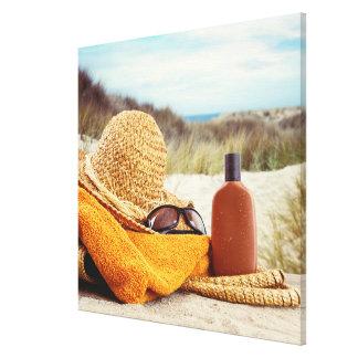 Lona envuelta escena de la playa impresiones en lona estiradas