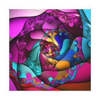 Lona envuelta espiral de fusión impresión en lienzo