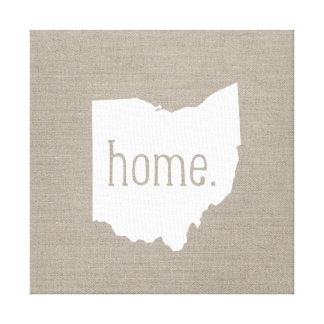 Lona envuelta estado de origen rústico de Ohio Impresiones En Lona Estiradas
