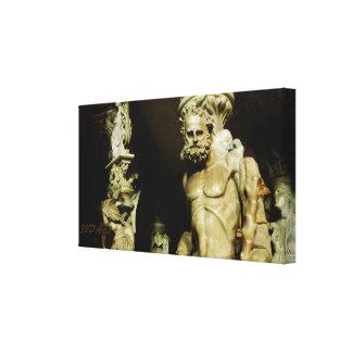 Lona envuelta estatua del pilar del púlpito de la impresión en lienzo