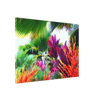 Lona envuelta fantasía tropical de la flora impresiones en lona