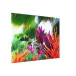 Lona envuelta fantasía tropical de la flora lienzo envuelto para galerias