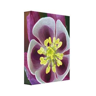 Lona envuelta flor del jardín lienzo envuelto para galerías