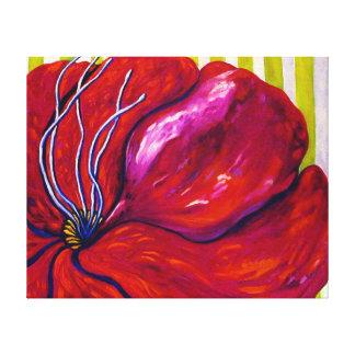 LONA ENVUELTA flor magenta Impresión En Lienzo