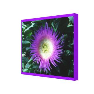 Lona envuelta flor púrpura del iceberg impresiones en lienzo estiradas
