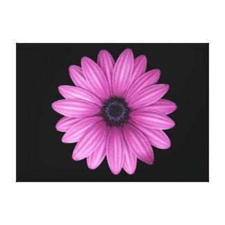 Lona envuelta flor rosada impresiones de lienzo