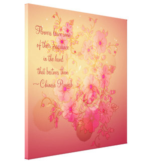 Lona envuelta floral de la correhuela inspirada impresion en lona