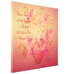 Lona envuelta floral de la correhuela inspirada impresión de lienzo