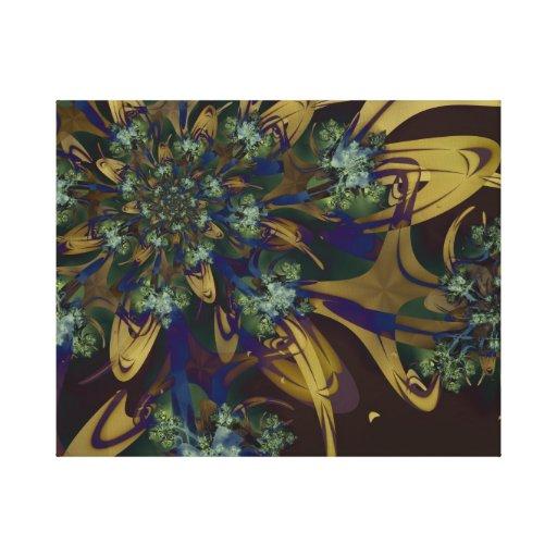 Lona envuelta floral del fractal impresión de lienzo