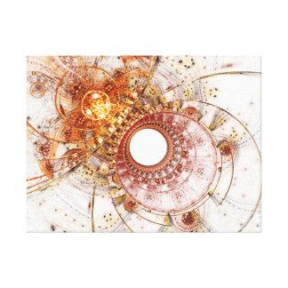 Lona envuelta fractal: Temperamento ardiente Impresión En Lona