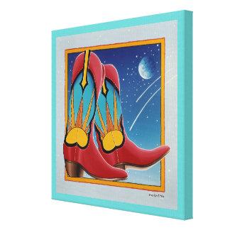 Lona envuelta galería de las BOTAS de VAQUERO de l Impresión En Lona Estirada