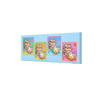 Lona envuelta galería de las GALLETAS del arte pop Impresion En Lona