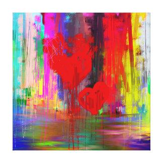 Lona envuelta galería de los corazones sangrantes impresiones en lienzo estiradas