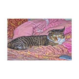 Lona envuelta gatito del palacio lienzo envuelto para galerias