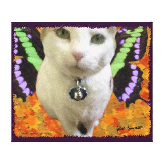 Lona envuelta gato de hadas impresiones en lienzo estiradas