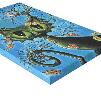 Lona envuelta gato del árbol impresiones en lienzo estiradas