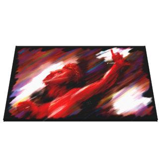 Lona envuelta Giclee sufridora roja de la pintura  Lienzo Envuelto Para Galerías