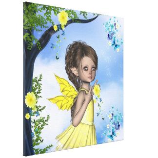 Lona envuelta Gigi del Faerie del duende de la chi Impresiones En Lona