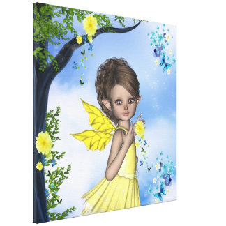 Lona envuelta Gigi del Faerie del duende de la chi Impresión En Lona Estirada