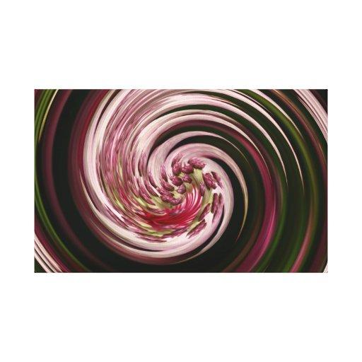 Lona envuelta giro de la flor impresión en lienzo estirada