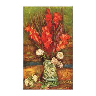 Lona envuelta gladiolo de Vincent Willem Van Gogh Impresión En Tela