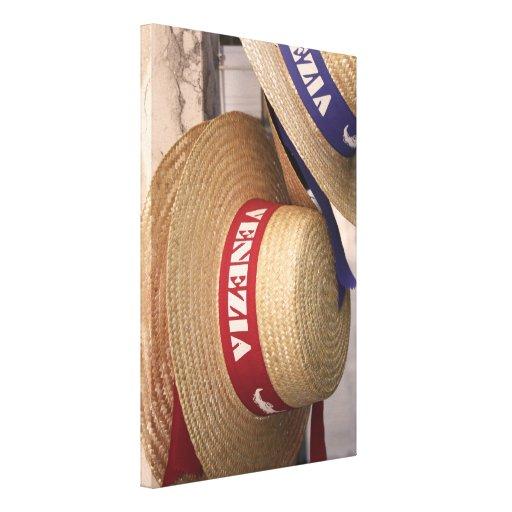 Lona envuelta gorra del gondolero de Venecia Impresion En Lona