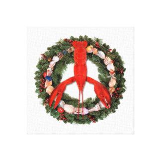 Lona envuelta guirnalda del navidad de la paz de l lona estirada galerias