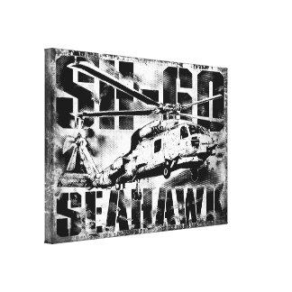 Lona envuelta halcón del mar impresión en lona estirada