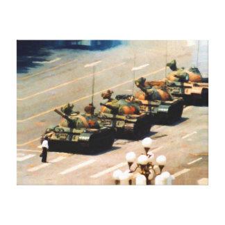 Lona envuelta hombre del tanque impresión en lienzo