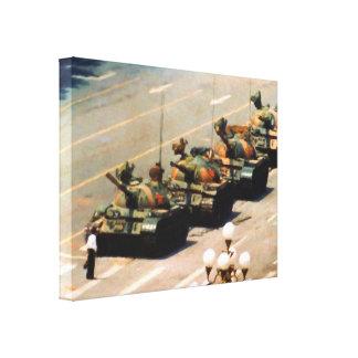Lona envuelta hombre del tanque impresion de lienzo
