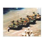 Lona envuelta hombre del tanque impresiones en lona estiradas