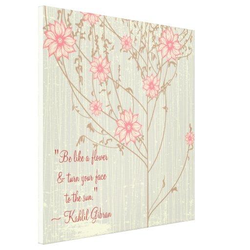 Lona envuelta inspirada de la flor salvaje lona estirada galerías