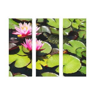 Lona envuelta jardín del agua impresiones en lona estiradas