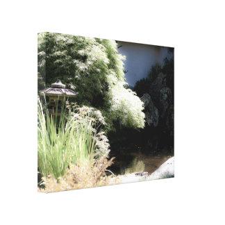 Lona envuelta jardín del zen impresión de lienzo