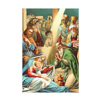 lona envuelta Jesús del bebé Impresiones En Lona