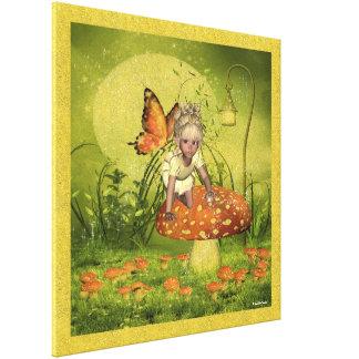 Lona envuelta Krissy del Faerie del niño del duend Lona Envuelta Para Galerías