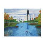 "Lona envuelta ""Lincoln Park - Chicago Lona Envuelta Para Galerias"