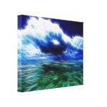 Lona envuelta mar tempestuoso impresiones en lienzo estiradas