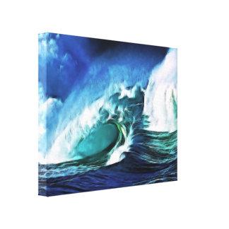 Lona envuelta mar tempestuoso lona estirada galerías