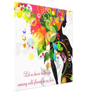 Lona envuelta mariposa inspirada impresiones en lona