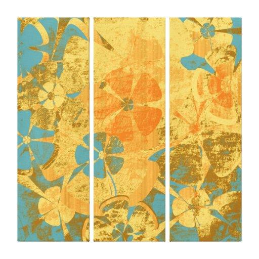 Lona envuelta moda floral del vintage impresiones en lona estiradas