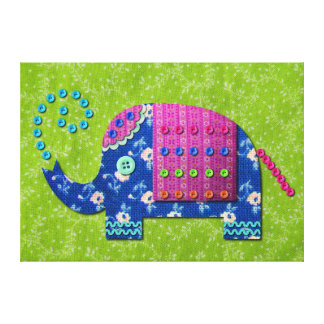 Lona envuelta modelada del elefante indio de la te impresion en lona