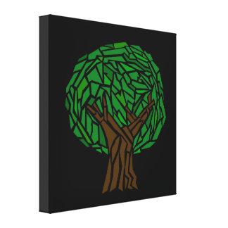 Lona envuelta mosaico del árbol impresión en lona