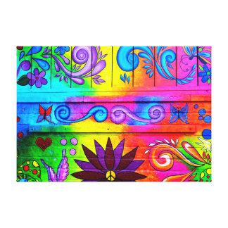 lona envuelta mural psicodélico del hippie de los lona estirada galerías