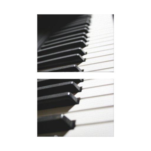 Lona envuelta música del piano impresiones en lona