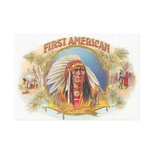 Lona envuelta nativo americano impresiones en lona