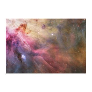 Lona envuelta nebulosa de Orión Impresión En Lienzo