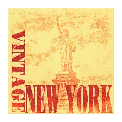 Lona envuelta Nueva York del vintage Lona Envuelta Para Galerías